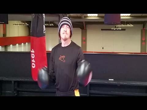 Kickboxing Workout Heavy Bag Combinations