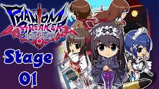 Phantom Breaker: Battle Grounds - PC - Stage 1 Daigaku  - Walkthrough Gameplay - HD 1080p