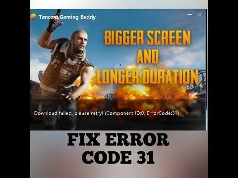 PUBG PC ERROR CODE-31,31 FIX