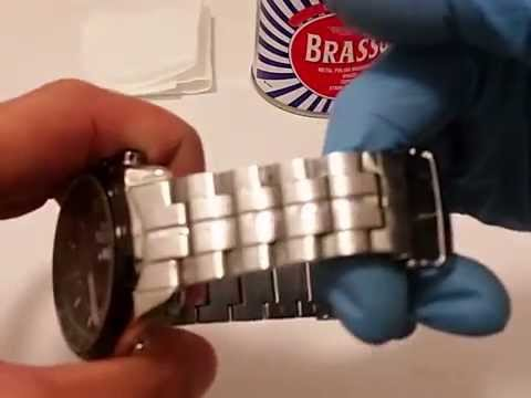 How to remove scratch and dirt on stainless steel / watch