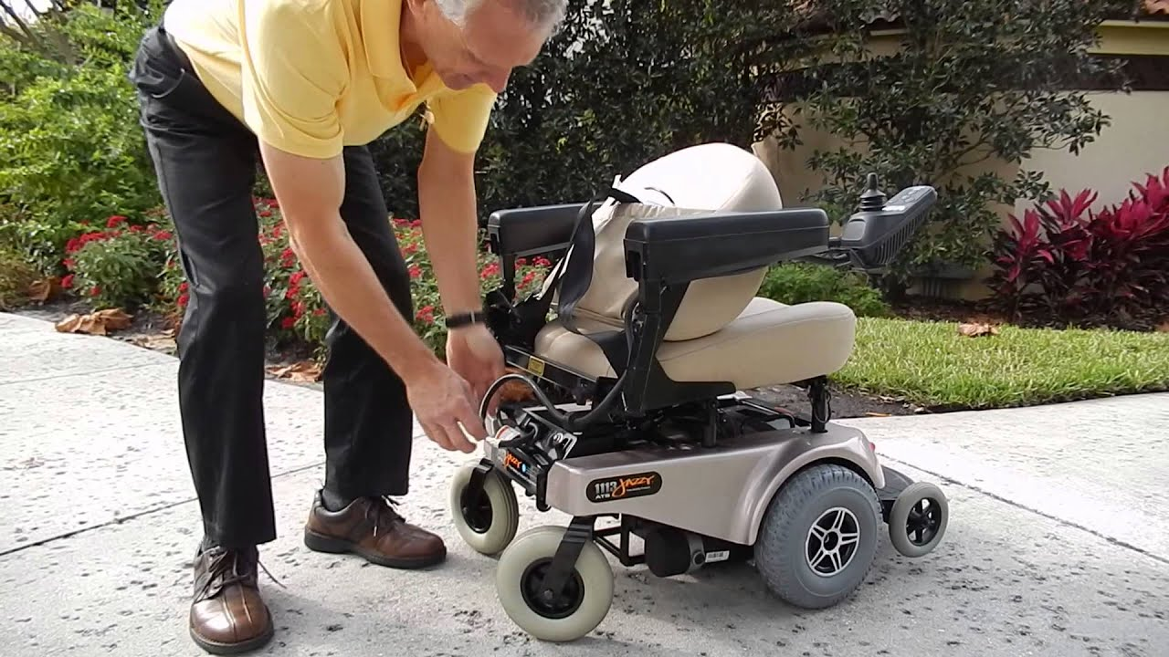 jazzy power chairs baby room 1113 ats chair (take apart chair) - youtube