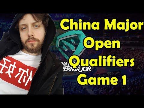 CHINA SUPERMAJOR OPEN QUALIFIERS - GORGC BULLDOG AKKE - GAME 1 (Gorgc Dota Highlights)