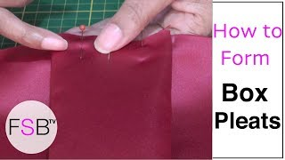 Forming Box Pleats