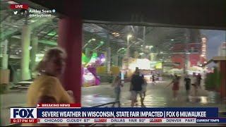 Wisconsin severe weather: State Fair impacted, power outages