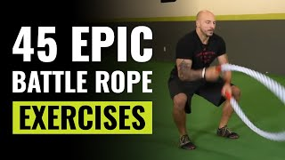 45 Epic Battle Ropes Exercises You MUST Try - Renton Gym