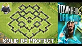 Clash Of Clans - (TH9) DE Farming Base 2015 + 2 Air Sweeper | Solid DE Protection | Defense Replay