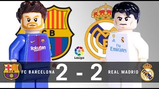 LEGO FC Barcelona 2 2 Real Madrid LaLiga 2017 / 2018