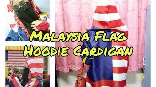 How To Make Malaysia Flag Hoodie Cardigan For Malaysia National Day