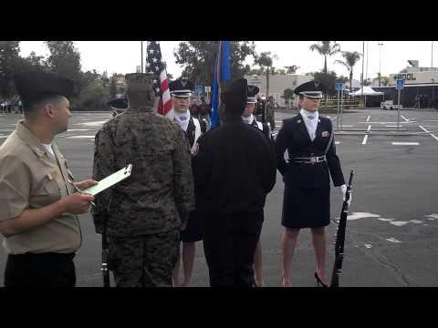 CA-933 TVHS JROTC all girl Color Guard
