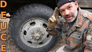 Deuce and a Half Emergency Tire Inflation with Deuce and Guns