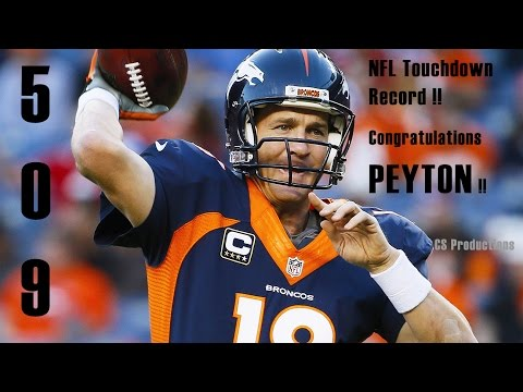Peyton Manning breaks TouchDown record of Brett Favre. Watch the TD record breaking Peyton pass