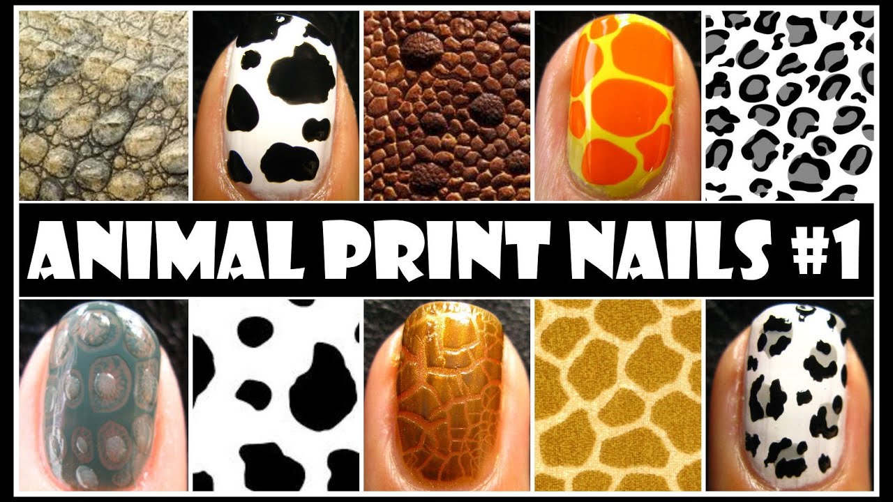 Animal print nail art 1 no tools required easy nails design animal print nail art 1 no tools required easy nails design tutorial for beginners at home diy youtube prinsesfo Images