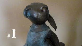 Ballerina Bunny - Paper Mache Clay, Part 1