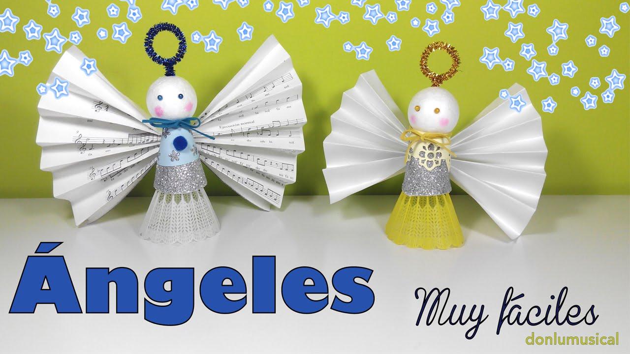 C mo reciclar manualidades de navidad angeles b dminton youtube - Manualidades para navidades faciles ...