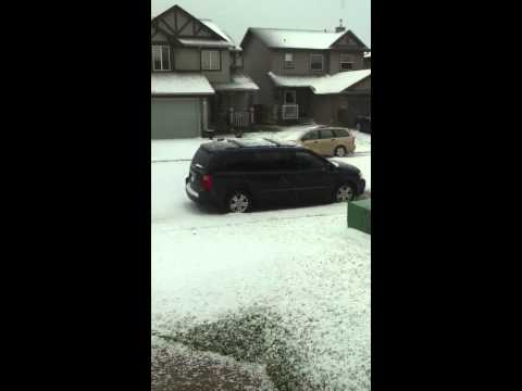 Hail storm Airdrie Alberta July 2013