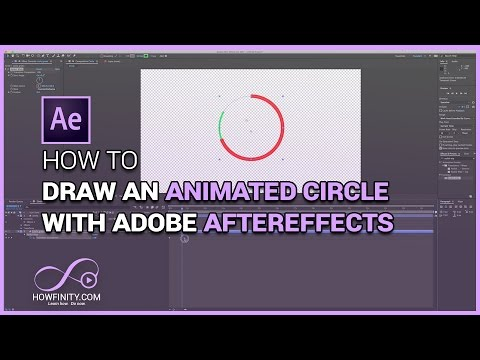 How to Draw An Animated Circle with Adobe Aftereffects