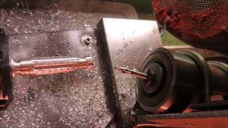 Radial milling on a lathe + spindle divider