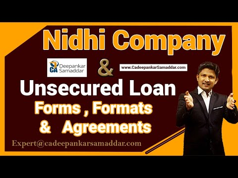 NIDHI COMPANY & UNSECURED LOAN-FREE FORM DOWNLOAN ,MEMBERSHIP, LOAN AGREEMENT & RECEIPT FORMATS-CADS