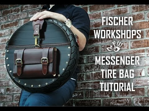 Make a Designer Messenger Tire Bag by Fischer Workshops 2017 (HD)