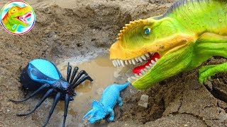 🐉 Funny dinosaurs and spiders - Toy I44P ToyTV 🐉