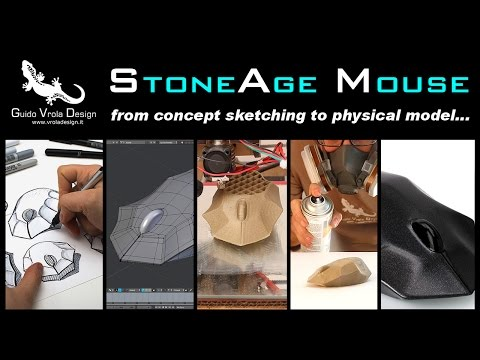 StoneAge Mouse - From concept sketching to physical model