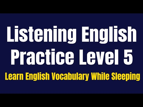 Improve Vocabulary ★ Learn English Vocabulary While Sleeping ★ Listening English Practice Level 5 ✔