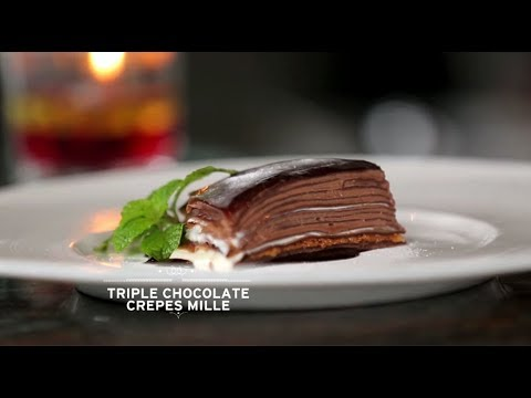 Triple Chocolate Crepes Mille - Chef's Table