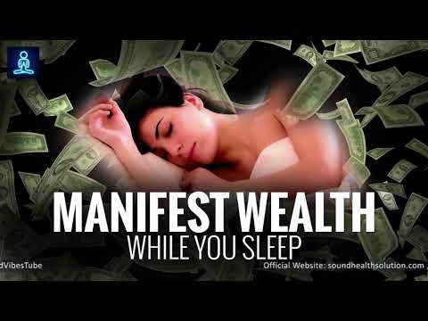 Manifest Wealth While You Sleep 8hr ♬ Attract Abundance of Money ♬ Deep Sleep Programming