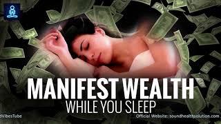 Manifest Wealth While You Sleep 8hr ♬ Attract Abundance of Money ♬ Deep Sleep Programming
