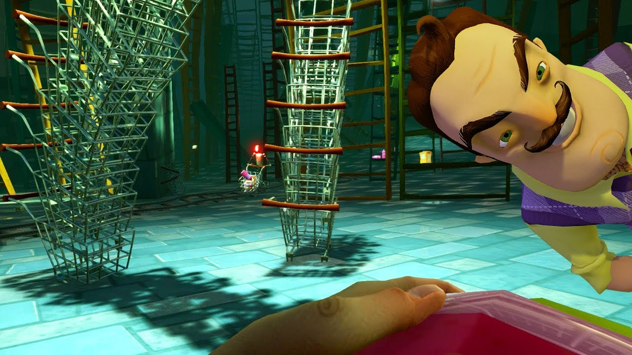 SUPERMARKET SHOPPING NIGHTMARE LEVEL?!?! | Hello Neighbor BETA 3