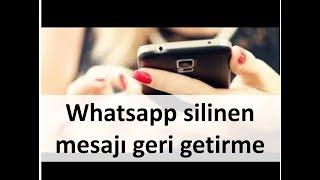Whatsapp silinen mesajı geri getirme! %100 gerçek. **Altyazılı**