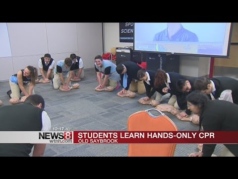 Old Saybrook middle school students learn CPR for Safety Day