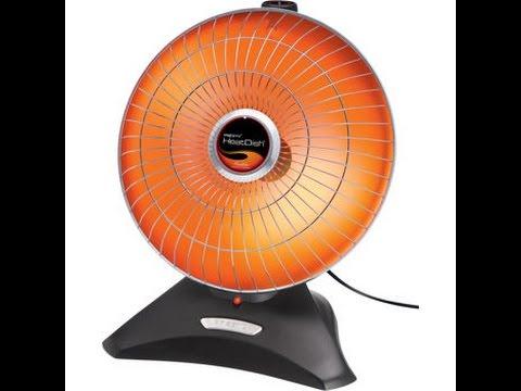 presto heatdish plus parabolic electric heater youtube rh youtube com Electric Water Heater Wiring Diagram 3 Phase Heater Wiring Diagram