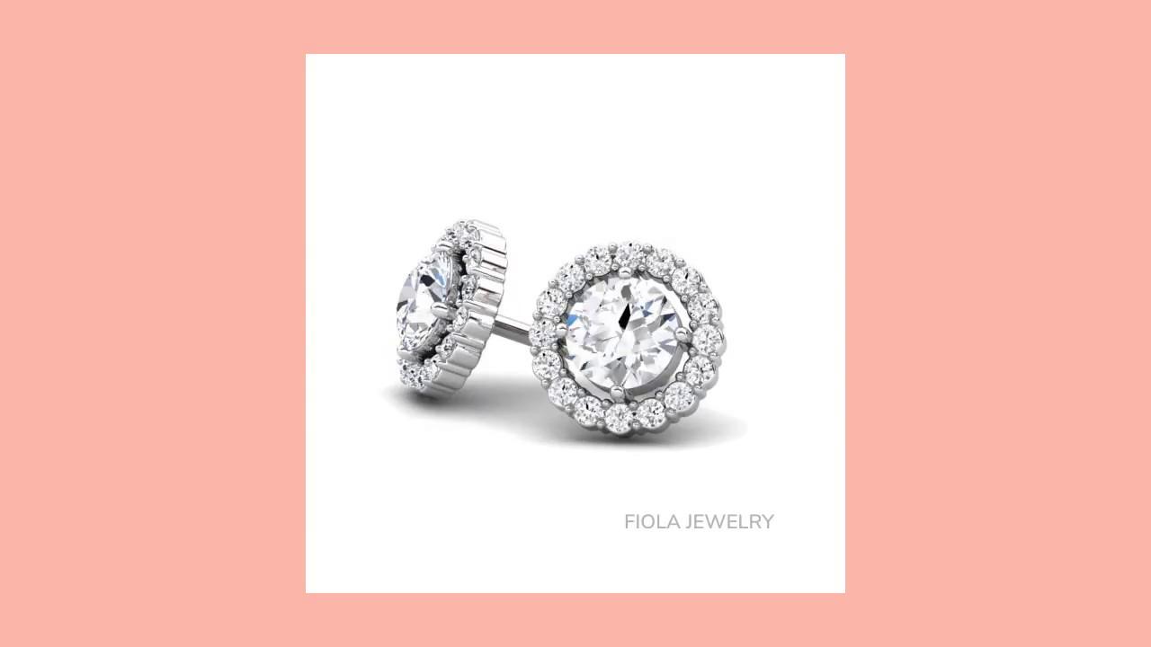 Her Majesty Children\'s Diamond Earrings by Fiola Jewelry - YouTube