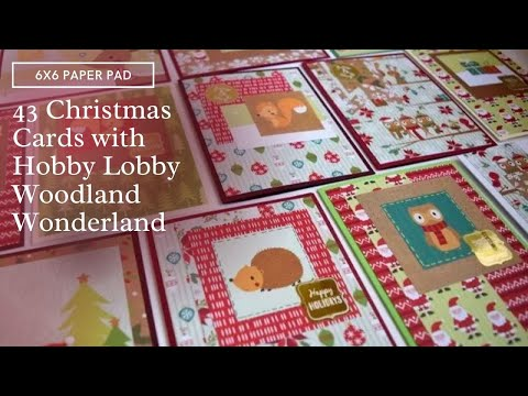 43 Christmas Cards with 6x6 Paper Pad | The Paper Studio Woodland Wonderland
