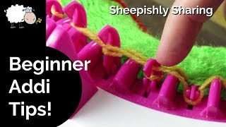Beginner Tips for Circular Knitting Machines | Addi Express and more!
