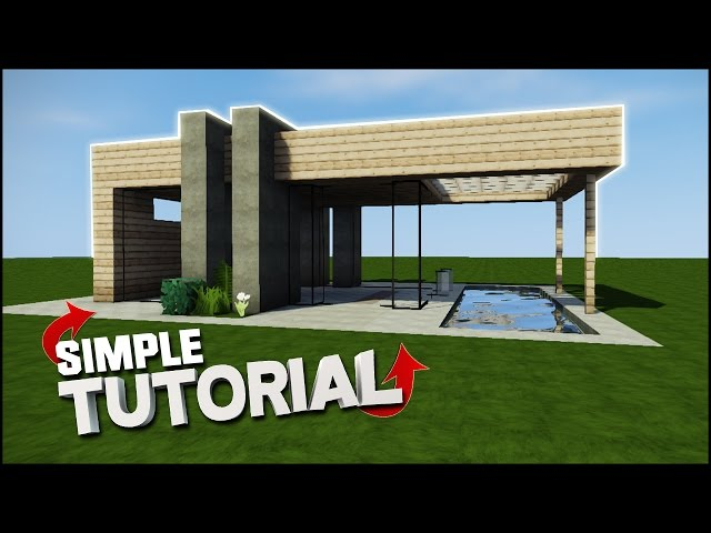 Wooden Modern Minecraft Houses Tutorial