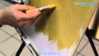 DESSA-DECOR. Нанесение - декоративная краска
