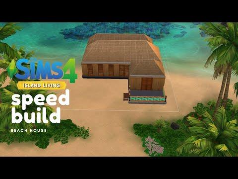 BEACH HOUSE || Island Living || Speed Build || THE SIMS 4 |