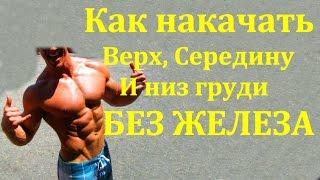 Как накачать верх, середину и низ грудных мышц БЕЗ ЖЕЛЕЗА. Программа тренировок