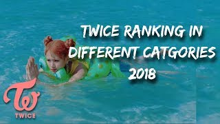 TWICE RANKING IN DIFFERENT CATEGORIES 2018 thumbnail