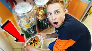 CLEANING OUT A GUMBALL MACHINE!!