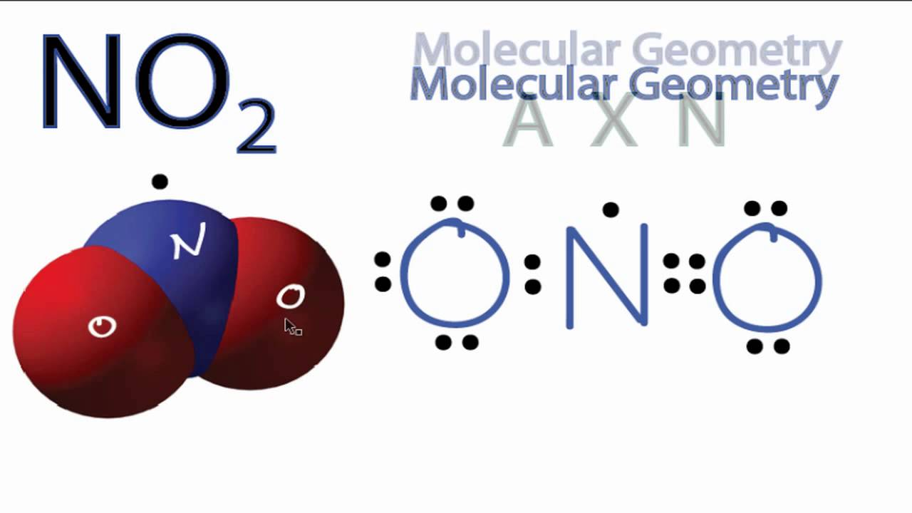 NO2 Molecular Geometry / Shape and Bond Angles - YouTube