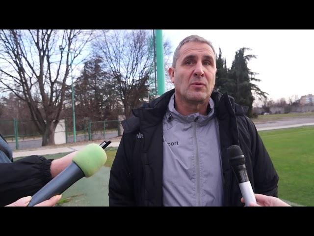 Димитър Димитров преди първата тренировка за 2021 г.