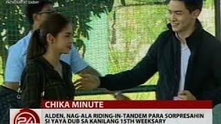 Alden Richards, nag-ala riding-in-tandem para sorpresahin si Yaya Dub sa kanilang 15th weeksary