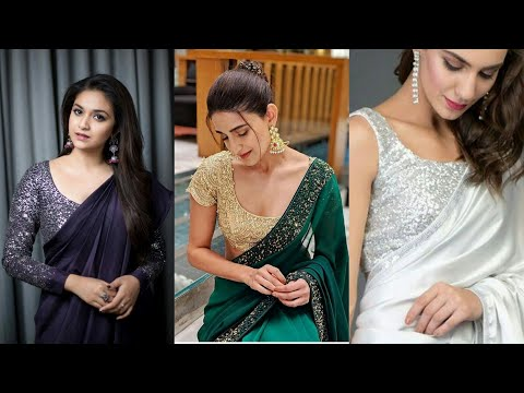 how-to-style-sequence-blouse-with-plain-saree-for-party-look/चमकीले-कपड़े-से-सुन्दर-सा-ब्लाउज-बनाइए
