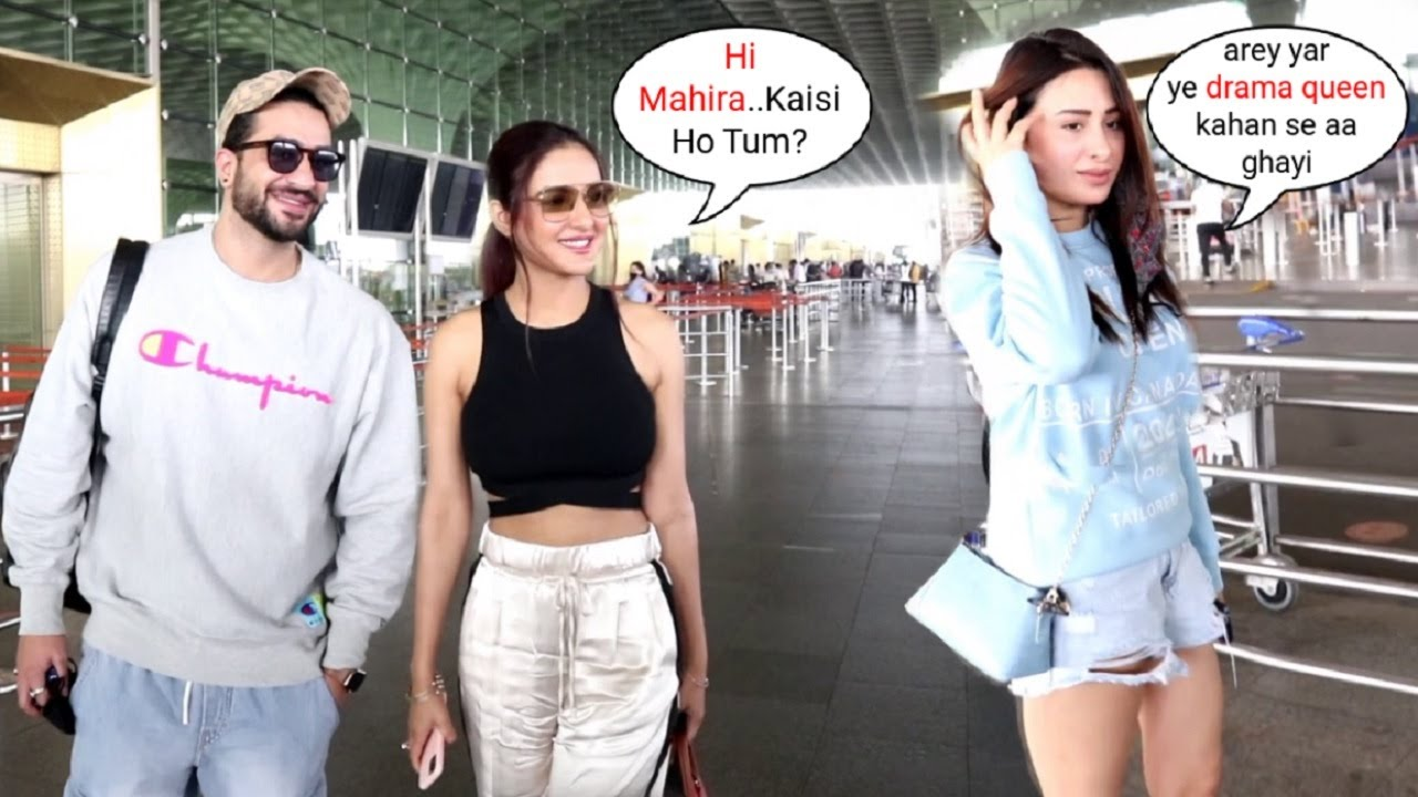Download Jasmin Bhasin Gets IGNORED By Mahira Sharma In Front Of Aly Goni, Flying For New Song Shoot In Dubai