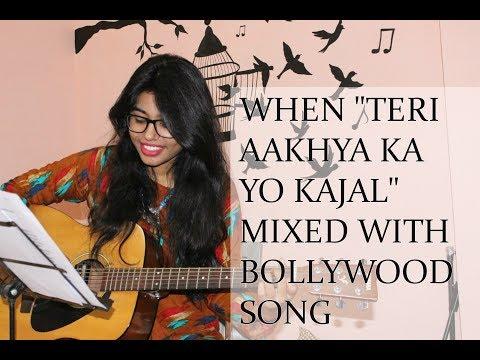 "When ""Teri Aakhya ka yo Kajal"" mixed with Bollywood | Pal Pal yad teri tadpave se | Sapna Chaudhry"