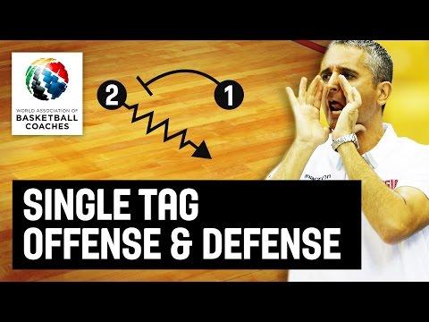 Single tag offense & defense - Igor Kokoskov - Basketball Fundamentals