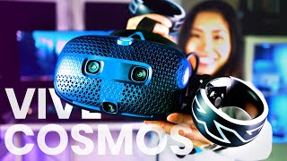 What is the HTC VIVE COSMOS like? Unboxing, Setup & First Impressions At Home!